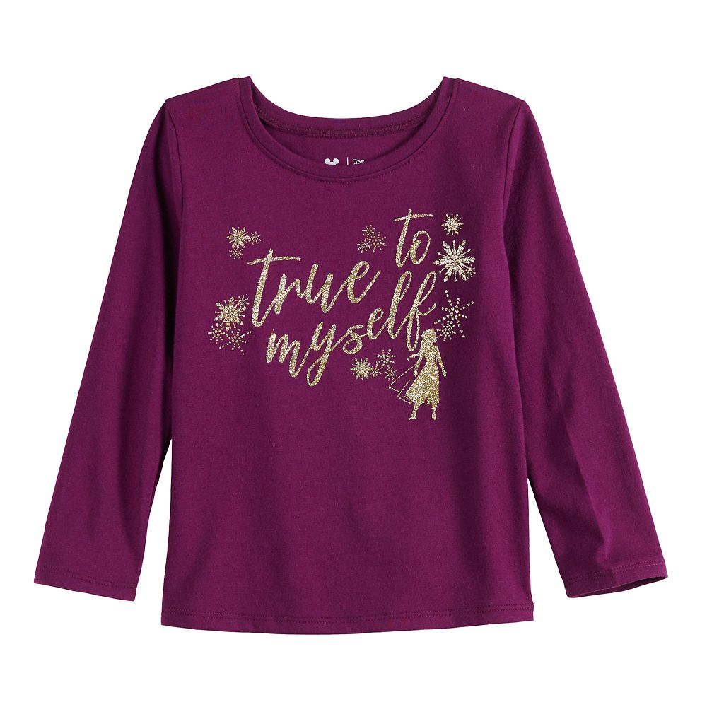 """Disney's Frozen 2 Toddler Girl """"True to Myself"""" Long Sleeve Tee by Jumping Beans®"""