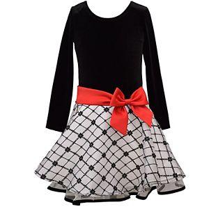 Girls 4-6x Bonnie Jean Long Sleeve Dress