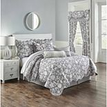 Waverly Stencil Vine Reversible Quilt Set