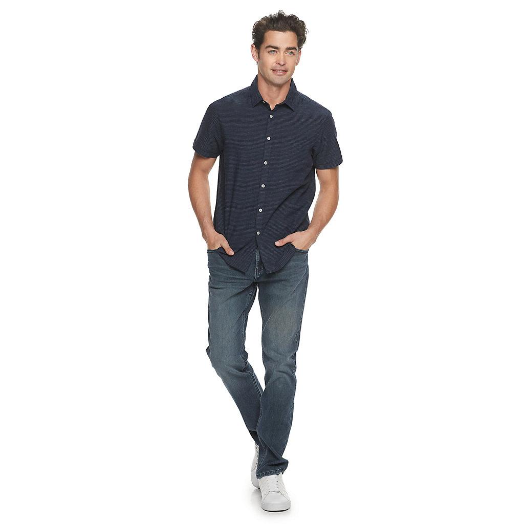 Men's Marc Anthony Linen Short Sleeve Button Down Shirt