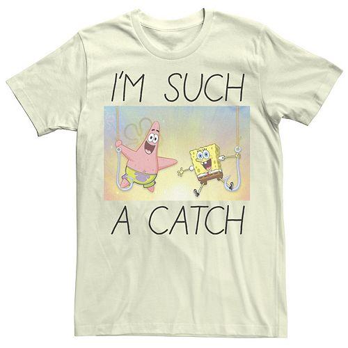 Men's Spongebob I'm Such A Catch Portrait Tee