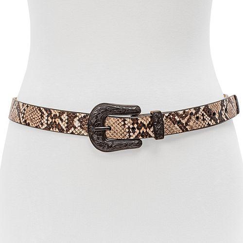 Women's 3-piece Skinny Western Buckle Waist Belt