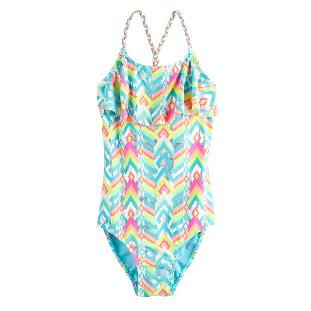 Girls 7-16 & Plus Size SO® Gemstone One-Piece Swimsuit