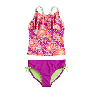 Girls 7-16 SO® Tropic Garden Tankini Top and Bottoms Swimsuit Set