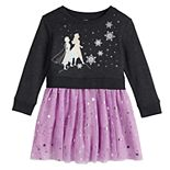 Toddler Girl Disney's Frozen 2 Anna and Elsa Sweatshirt Tutu Dress by Jumping Bean®