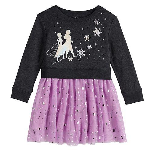 Disney's Frozen 2 Toddler Girl Anna and Elsa Sweatshirt Tutu Dress by Jumping Beans®