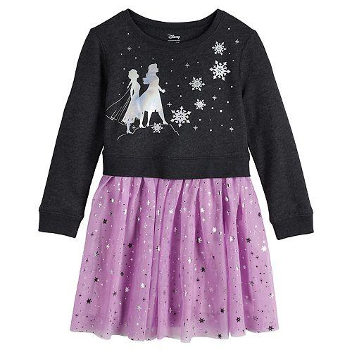 Disney's Frozen 2 Girls 4-12 Anna and Elsa Sweatshirt Tutu Dress by Jumping Beans®
