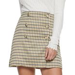 Juniors' Candie's Double Button Mini Skirt