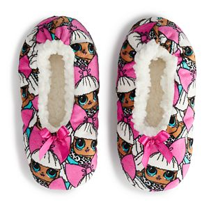 Girls 4-9 L.O.L. Surprise! Fuzzy Babba Slipper Socks