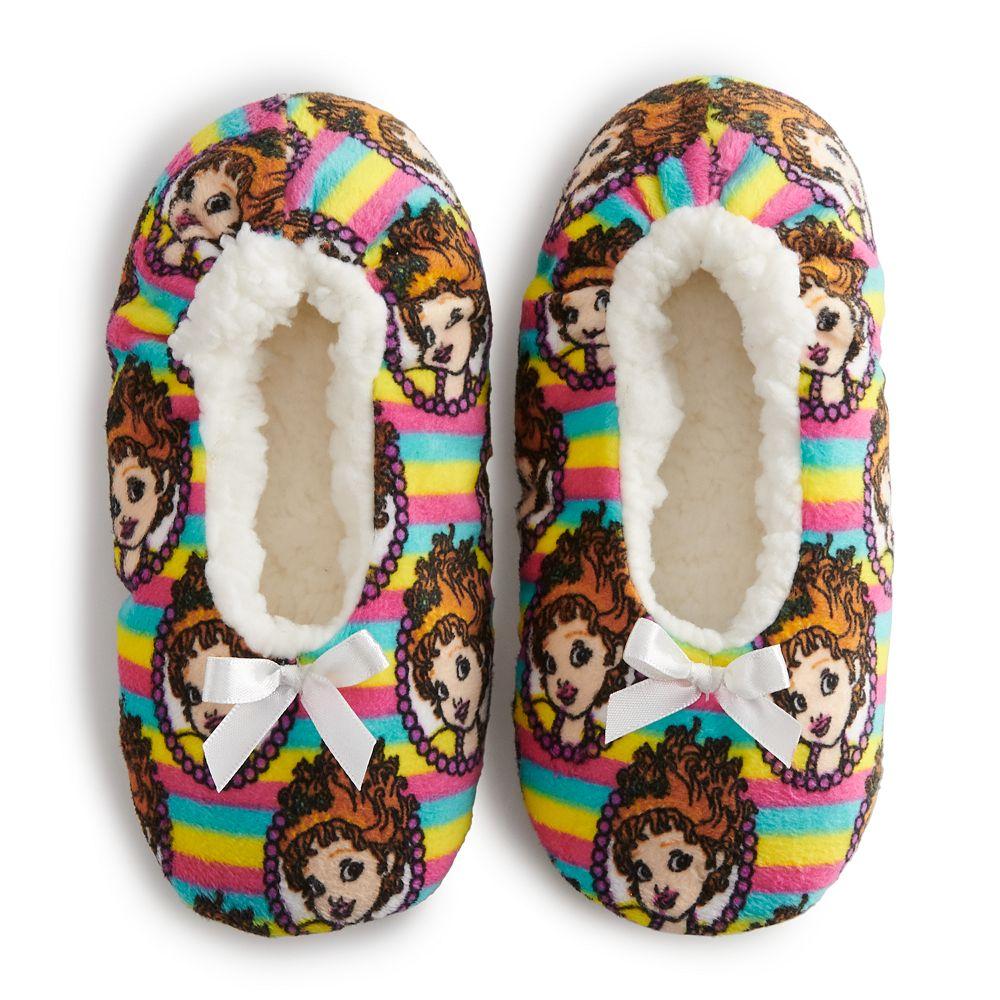 Disney's Fancy Nancy Girls 4-9 Fuzzy Babba Slipper Socks