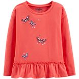 Toddler Girl OshKosh B'gosh® Embroidered Peplum Top