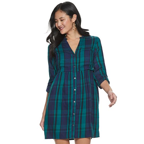 Juniors' So® 2 Pocket Utility Shirt Dress by Juniors' So