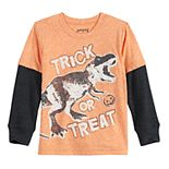 Toddler Boy Jumping Beans® Dinosaur Halloween Thermal Skater Tee