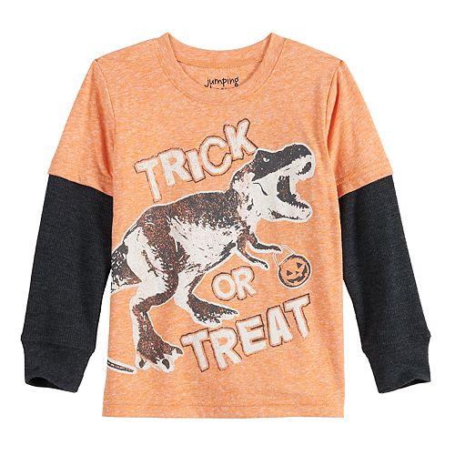 Toddler Boy Jumping Beans® Dinosaur Halloween Thermal Skater Tee