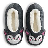 Girls 4-9 Critter Fuzzy Babba Slipper Socks