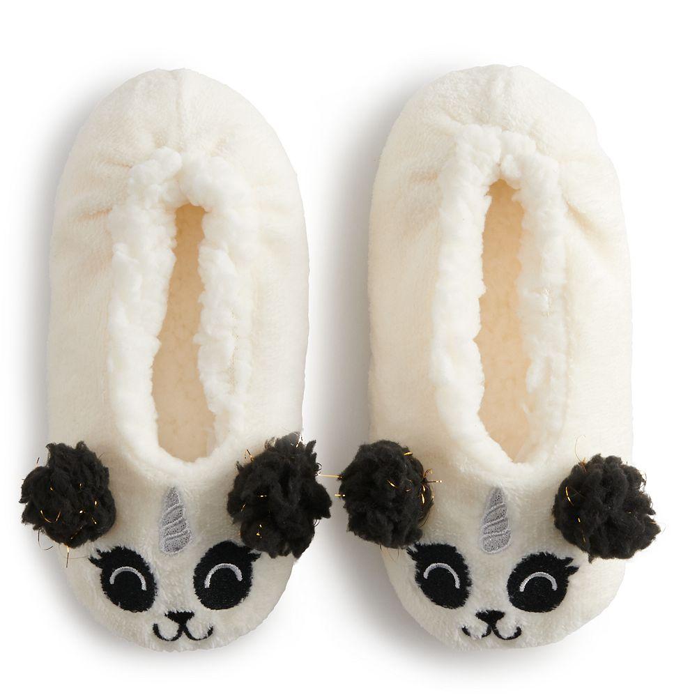 Girls 4-9 Critter Fuzzy Babba Slipper Socks