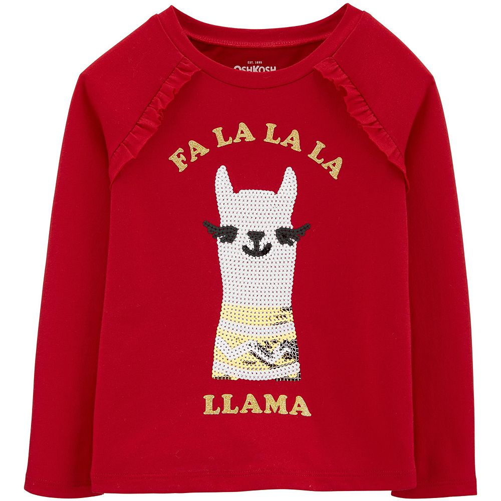 Toddler Girl OshKosh B'gosh® Holiday Llama Tee