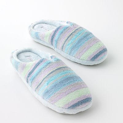 Dearfoams Classic Striped Terry Cloth Slippers