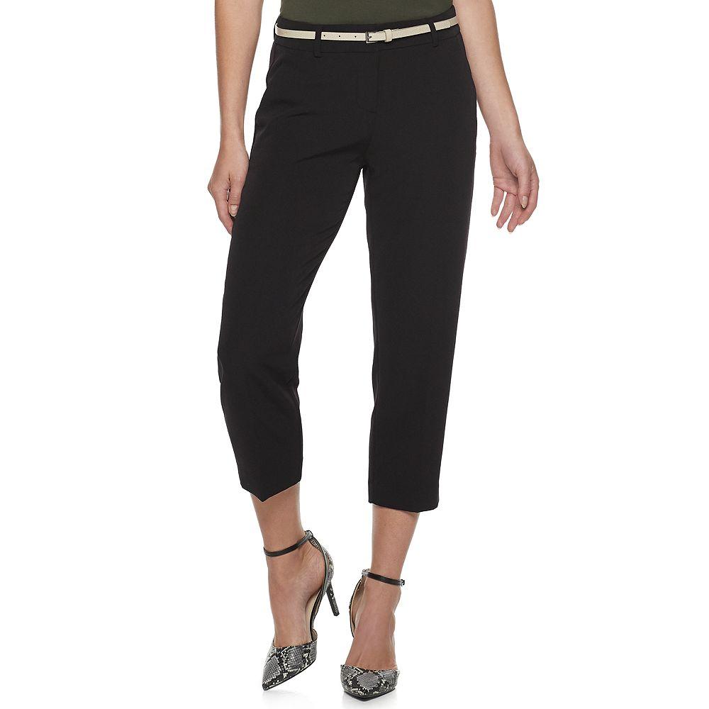Women's Apt. 9® Torie Belted Capri Pants