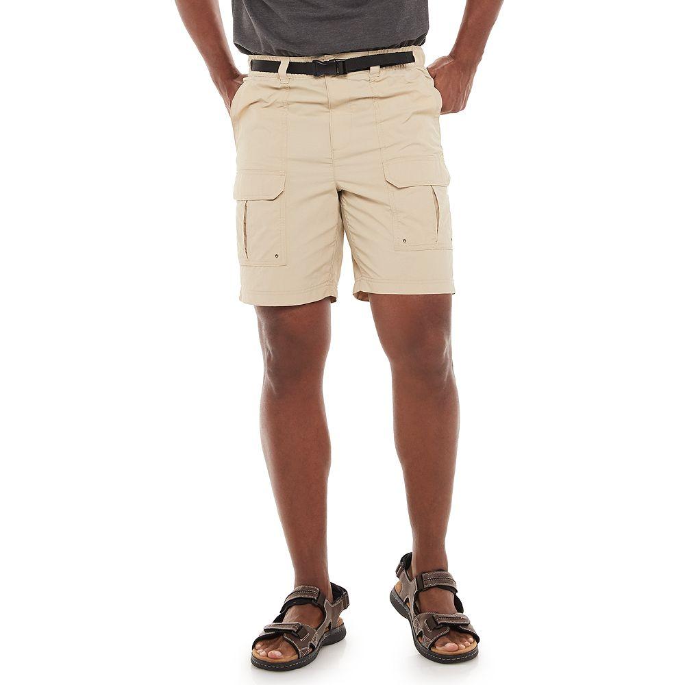 Men's Croft & Barrow® Belted Ripstop Cargo Shorts