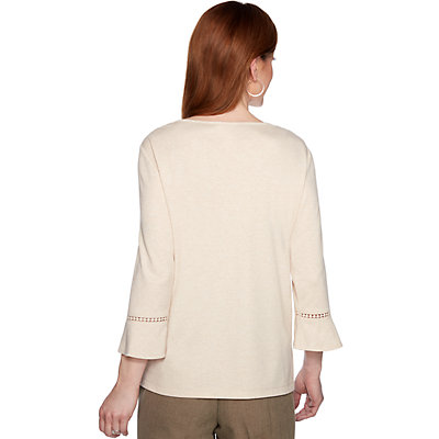 Petite Alfred Dunner Medallion & Floral Knit Top