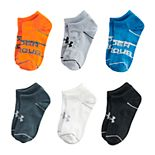 Boys 8-20 Under Armour 6-Pack Essential Lite No show Socks