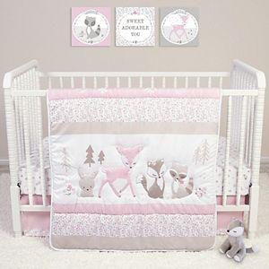 Sammy & Lou Sweet Forest Friends 4 Piece Crib Bedding Set