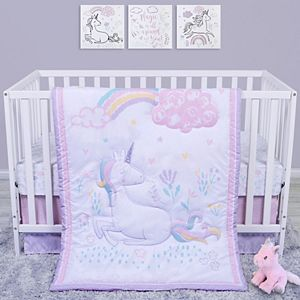 Sammy & Lou Sweet Unicorn 4 Piece Crib Bedding Set