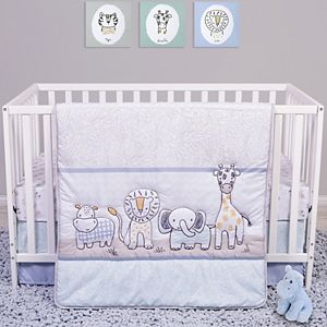 Sammy & Lou Safari Yearbook 4 Piece Crib Bedding Set