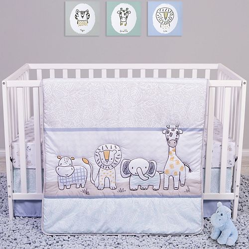 Nursery Bedding Baby Crib//Cradle//Mini crib Reversible 4 piece Bedding Set
