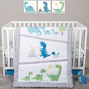 Sammy & Lou Sammy Dinosaur Pals 4 Piece Crib Bedding Set