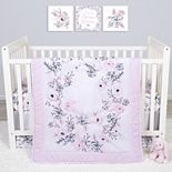 Sammy & Lou Simply Floral 4 Piece Crib Bedding Set