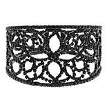 Simply Vera Vera Wang Jet Openwork Lace Cuff Bracelet