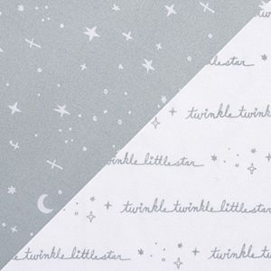 Sammy & Lou Celestial 2 Pack Microfiber Fitted Crib Sheet