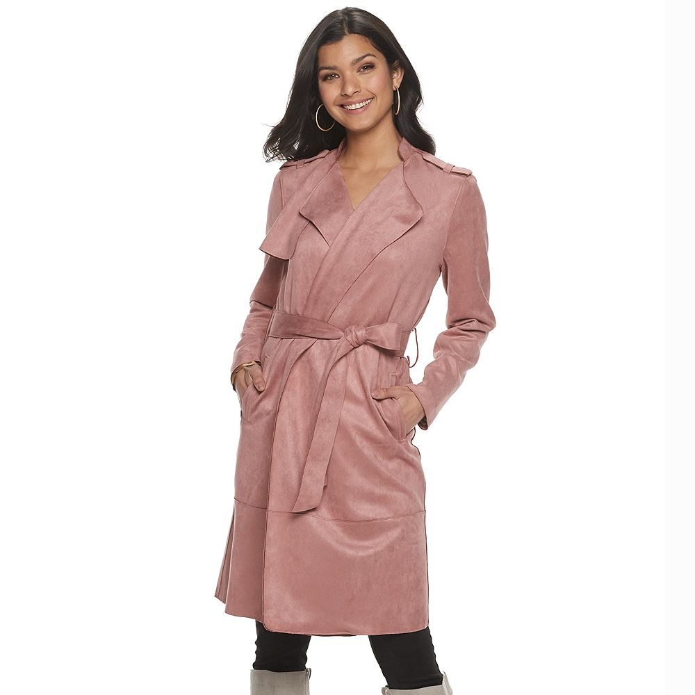 Women's Apt. 9® Faux Suede Trench Coat
