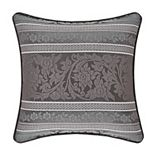"37 West Mackay Graphite 18"" Square Decorative Throw Pillow"