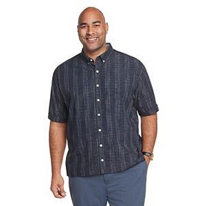 Big & Tall Van Heusen Never Tuck Classic-Fit Button-Down Shirt