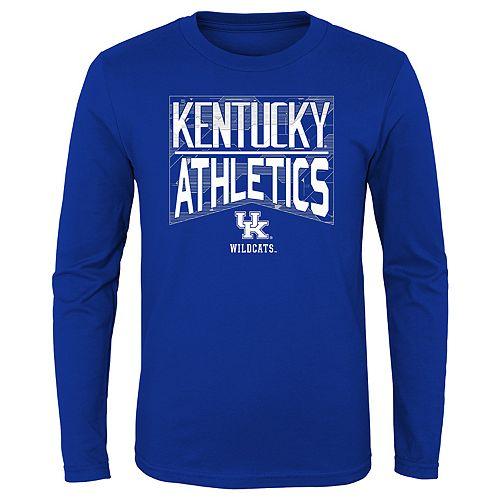 Boys 4-20 NCAA Kentucky Wildcats Energy Long Sleeve Tee