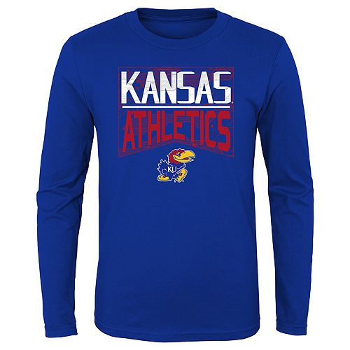 Boys 4-20 NCAA Kansas Jayhawks Energy Long Sleeve Tee