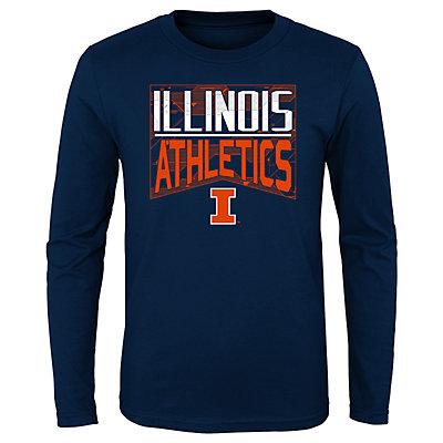 Boys 4-20 NCAA Illinois Fighting Illini Energy Long Sleeve Tee