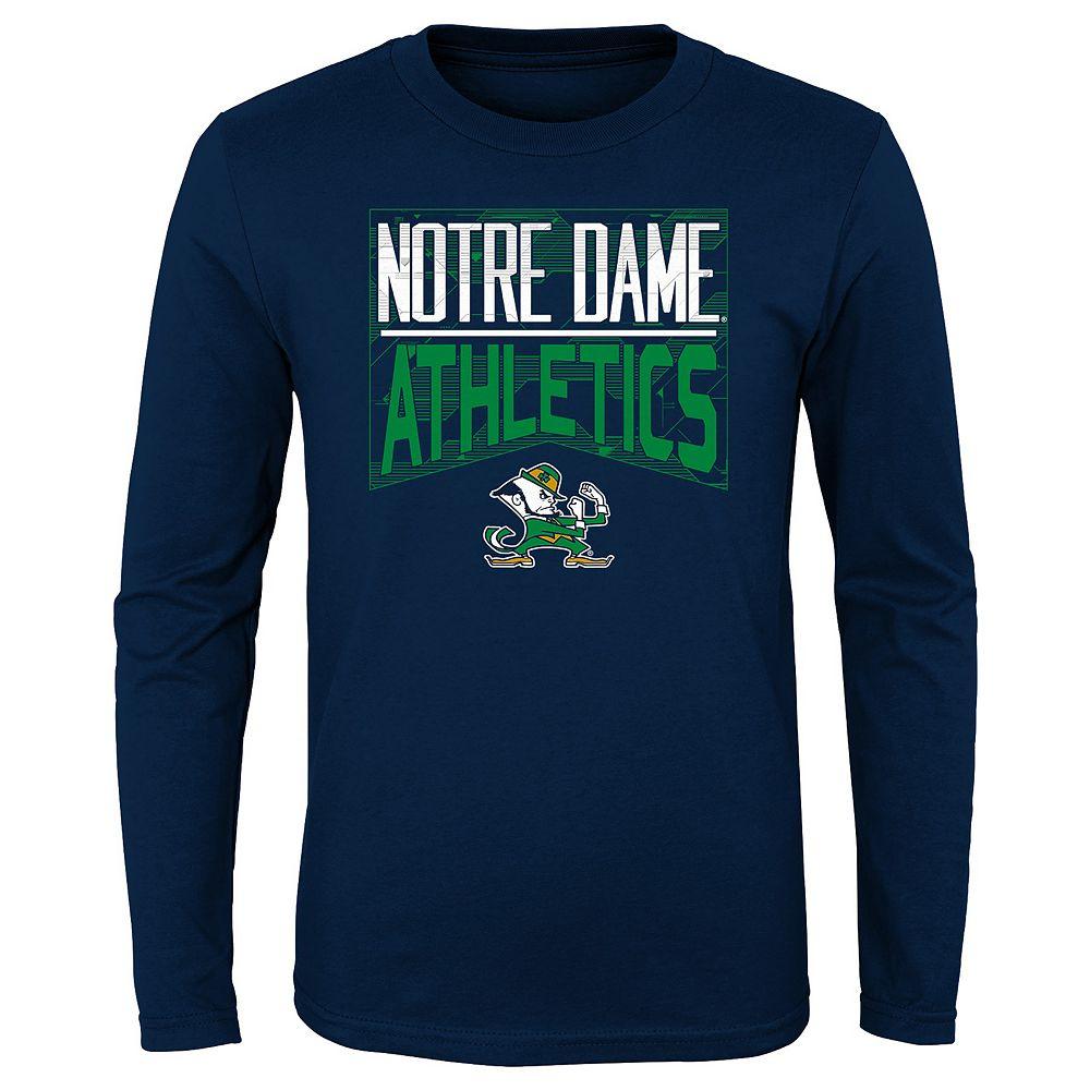Boys 4-20 NCAA Notre Dame Fighting Irish Energy Long Sleeve Tee