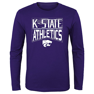 Boys 4-20 NCAA Kansas State Wildcats Energy Long Sleeve Tee