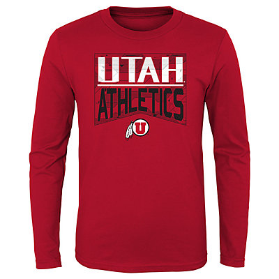 Boys 4-20 NCAA Utah Utes Energy Long Sleeve Tee