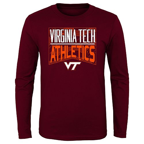 Boys 4-20 NCAA Virginia Tech Hokies Energy Long Sleeve Tee