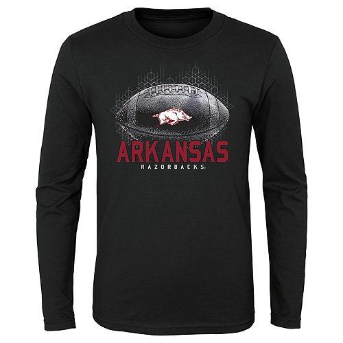 Boys 4-20 NCAA Arkansas Razorbacks Hexagon Long Sleeve Tee