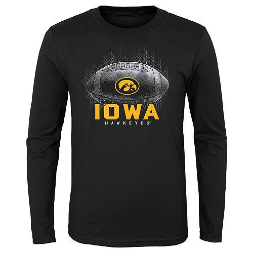 Boys 4-20 NCAA Iowa Hawkeyes Hexagon Long Sleeve Tee