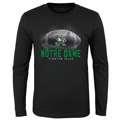 Boys 4-20 NCAA Notre Dame Fighting Irish Hexagon Long Sleeve Tee