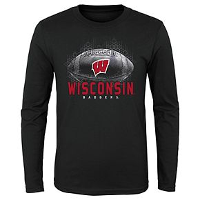 Boys 4-20 NCAA Wisconsin Badgers Hexagon Long Sleeve Tee