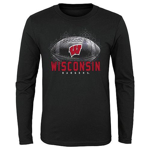 Boys 4-20 NCAA Wisconsin Badgers Hexagon Long Sleeve Tee