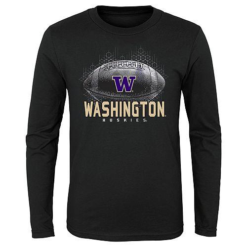 Boys 4-20 NCAA Washington Huskies Hexagon Long Sleeve Tee